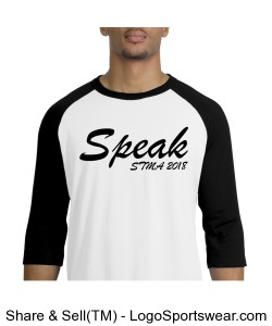 Speak Baseball Tee Design Zoom