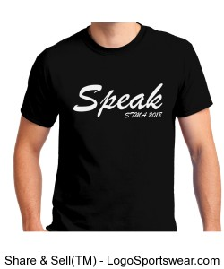 Speak T-Shirt Design Zoom